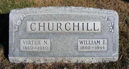 CHURCHILL, WILLIAM E. - Frontier County, Nebraska | WILLIAM E. CHURCHILL - Nebraska Gravestone Photos