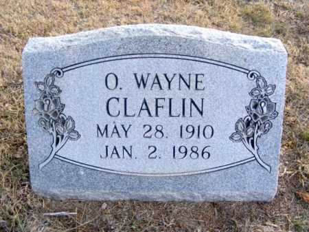CLAFLIN, O. WAYNE - Frontier County, Nebraska | O. WAYNE CLAFLIN - Nebraska Gravestone Photos