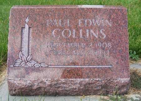 COLLINS, PAUL EDWIN - Frontier County, Nebraska | PAUL EDWIN COLLINS - Nebraska Gravestone Photos