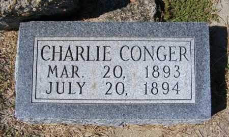CONGER, CHARLIE - Frontier County, Nebraska | CHARLIE CONGER - Nebraska Gravestone Photos