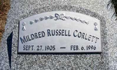 CORLETT, MILDRED - Frontier County, Nebraska | MILDRED CORLETT - Nebraska Gravestone Photos