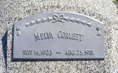 CORLETT, MELVA - Frontier County, Nebraska | MELVA CORLETT - Nebraska Gravestone Photos