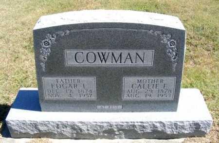 COWMAN, CALLIE E. - Frontier County, Nebraska | CALLIE E. COWMAN - Nebraska Gravestone Photos