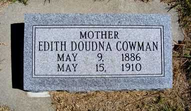 COWMAN, EDITH DOUDNA - Frontier County, Nebraska | EDITH DOUDNA COWMAN - Nebraska Gravestone Photos