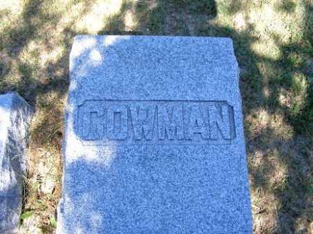 COWMAN, FAMILY - Frontier County, Nebraska | FAMILY COWMAN - Nebraska Gravestone Photos
