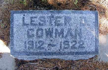 COWMAN, LESTER D. - Frontier County, Nebraska | LESTER D. COWMAN - Nebraska Gravestone Photos