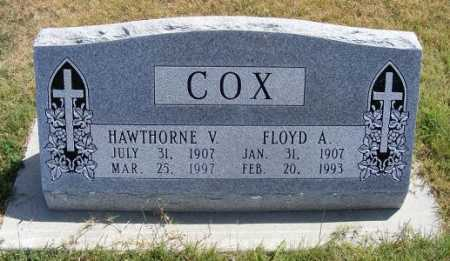 COX, HAWTHORNE V. - Frontier County, Nebraska | HAWTHORNE V. COX - Nebraska Gravestone Photos