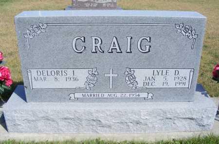 CRAIG, LYLE D. - Frontier County, Nebraska | LYLE D. CRAIG - Nebraska Gravestone Photos
