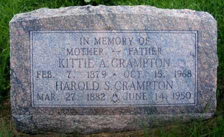 CRAMPTON, KITTIE A. - Frontier County, Nebraska | KITTIE A. CRAMPTON - Nebraska Gravestone Photos