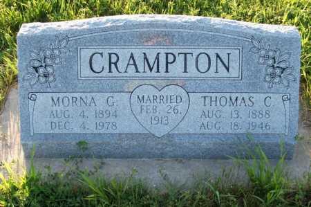 CRAMPTON, MORNA GRACE - Frontier County, Nebraska   MORNA GRACE CRAMPTON - Nebraska Gravestone Photos