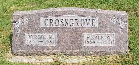 SPANGLER CROSSGROVE, VIRGIE M. - Frontier County, Nebraska | VIRGIE M. SPANGLER CROSSGROVE - Nebraska Gravestone Photos