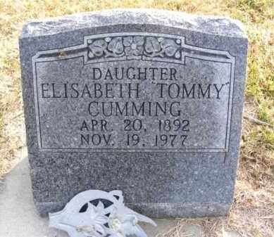 """CUMMING, ELISABETH """"TOMMY"""" - Frontier County, Nebraska 