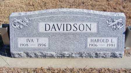DAVIDSON, IVA T. - Frontier County, Nebraska | IVA T. DAVIDSON - Nebraska Gravestone Photos