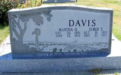 HOSCHOUER DAVIS, MARTHA O. - Frontier County, Nebraska   MARTHA O. HOSCHOUER DAVIS - Nebraska Gravestone Photos