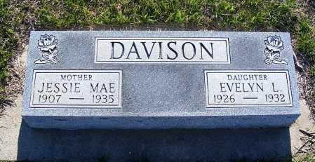 DAVISON, JESSIE MAE - Frontier County, Nebraska | JESSIE MAE DAVISON - Nebraska Gravestone Photos