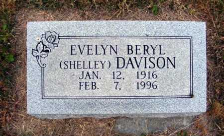 SHELLEY DAVISON, EVELYN BERYL - Frontier County, Nebraska | EVELYN BERYL SHELLEY DAVISON - Nebraska Gravestone Photos