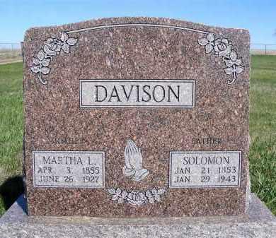 DAVISON, SOLOMON - Frontier County, Nebraska | SOLOMON DAVISON - Nebraska Gravestone Photos