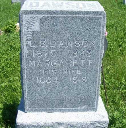 DAWSON, E.S. - Frontier County, Nebraska   E.S. DAWSON - Nebraska Gravestone Photos