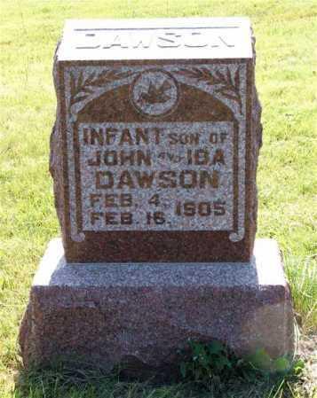DAWSON, INFANT SON - Frontier County, Nebraska | INFANT SON DAWSON - Nebraska Gravestone Photos