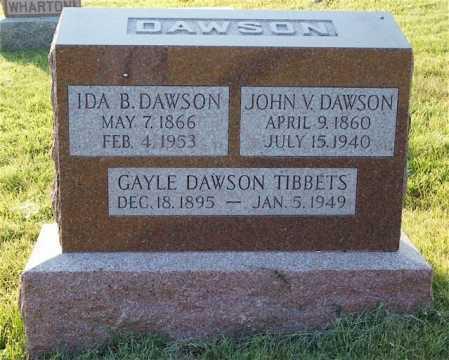 TIBBETS, GAYLE DAWSON - Frontier County, Nebraska | GAYLE DAWSON TIBBETS - Nebraska Gravestone Photos