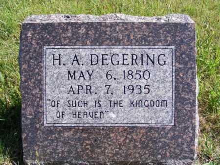 DEGERING, H.A. - Frontier County, Nebraska | H.A. DEGERING - Nebraska Gravestone Photos