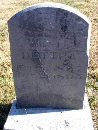 DETTRA, ERNEST W. - Frontier County, Nebraska   ERNEST W. DETTRA - Nebraska Gravestone Photos