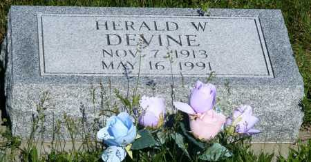 DEVINE, HERALD W. - Frontier County, Nebraska | HERALD W. DEVINE - Nebraska Gravestone Photos