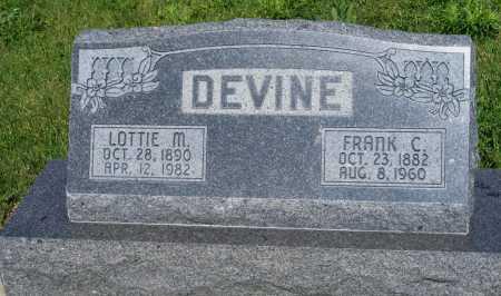 GAMMIL DEVINE, LOTTIE M. - Frontier County, Nebraska | LOTTIE M. GAMMIL DEVINE - Nebraska Gravestone Photos