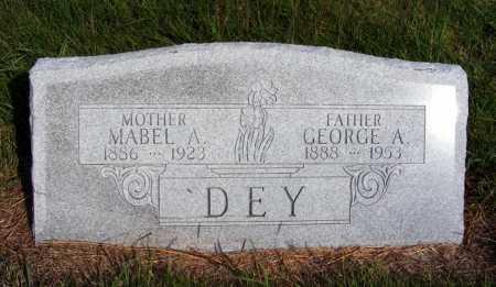 DEY, GEORGE A. - Frontier County, Nebraska | GEORGE A. DEY - Nebraska Gravestone Photos