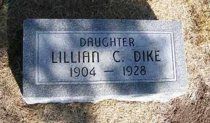 DIKE, LILLIAN C. - Frontier County, Nebraska | LILLIAN C. DIKE - Nebraska Gravestone Photos
