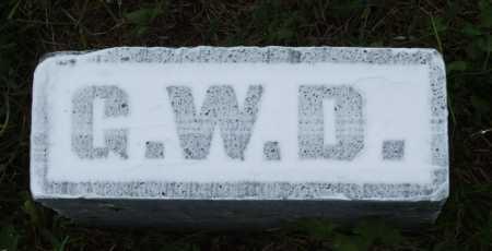 DIVOLL, G.W. - Frontier County, Nebraska | G.W. DIVOLL - Nebraska Gravestone Photos