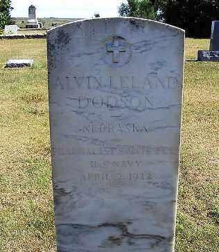 DODSON, ALVIN LELAND - Frontier County, Nebraska | ALVIN LELAND DODSON - Nebraska Gravestone Photos
