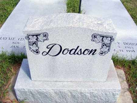 DODSON, FAMILY - Frontier County, Nebraska   FAMILY DODSON - Nebraska Gravestone Photos