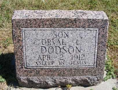 DODSON, ORVAL L. - Frontier County, Nebraska | ORVAL L. DODSON - Nebraska Gravestone Photos