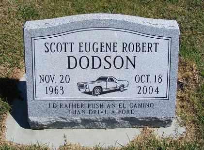 DODSON, SCOTT EUGENE ROBERT - Frontier County, Nebraska | SCOTT EUGENE ROBERT DODSON - Nebraska Gravestone Photos
