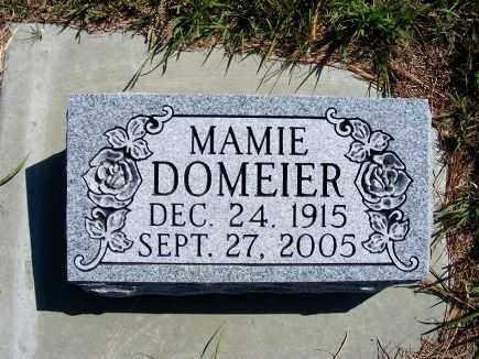 DOMEIER, MAMIE - Frontier County, Nebraska | MAMIE DOMEIER - Nebraska Gravestone Photos