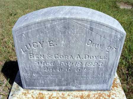 DOYLE, LUCY E. - Frontier County, Nebraska | LUCY E. DOYLE - Nebraska Gravestone Photos