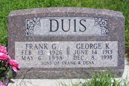 DUIS, GEORGE K. - Frontier County, Nebraska | GEORGE K. DUIS - Nebraska Gravestone Photos