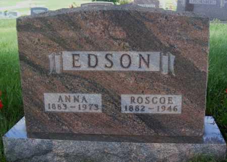 EDSON, ROSCOE - Frontier County, Nebraska   ROSCOE EDSON - Nebraska Gravestone Photos