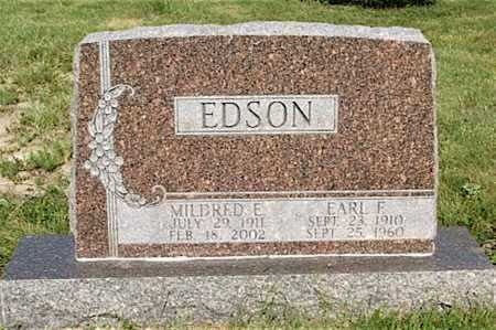 HICKS EDSON, MILDRED E. - Frontier County, Nebraska | MILDRED E. HICKS EDSON - Nebraska Gravestone Photos