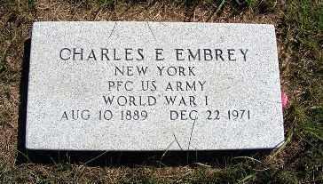 EMBREY, CHARLES E. - Frontier County, Nebraska | CHARLES E. EMBREY - Nebraska Gravestone Photos
