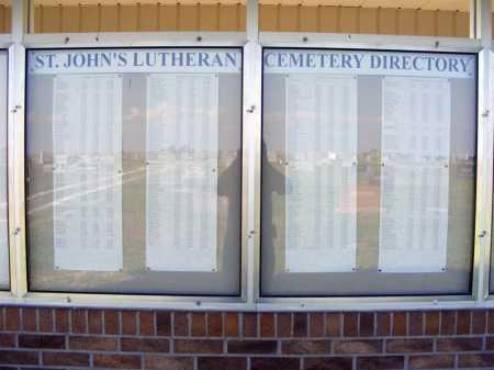 *EUSTIS EAST CEMETERY, ST.JOHN'S LUTHERAN DIRECTORY - Frontier County, Nebraska | ST.JOHN'S LUTHERAN DIRECTORY *EUSTIS EAST CEMETERY - Nebraska Gravestone Photos