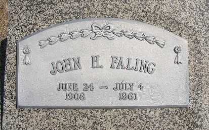 FALING, JOHN H. - Frontier County, Nebraska | JOHN H. FALING - Nebraska Gravestone Photos