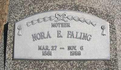 DICK FALING, NORA E. - Frontier County, Nebraska   NORA E. DICK FALING - Nebraska Gravestone Photos