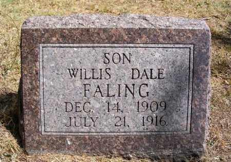 FALING, WILLIS DALE - Frontier County, Nebraska | WILLIS DALE FALING - Nebraska Gravestone Photos