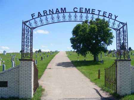 *FARNAM CEMETERY, ENTRANCE TO - Frontier County, Nebraska | ENTRANCE TO *FARNAM CEMETERY - Nebraska Gravestone Photos
