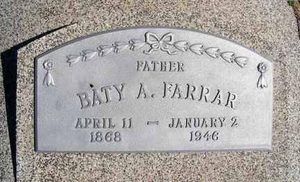 FARRAR, BATY A. - Frontier County, Nebraska | BATY A. FARRAR - Nebraska Gravestone Photos