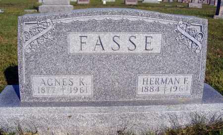 FASSE, AGNES K. - Frontier County, Nebraska | AGNES K. FASSE - Nebraska Gravestone Photos