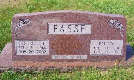 FASSE, GERTRUDE E. - Frontier County, Nebraska | GERTRUDE E. FASSE - Nebraska Gravestone Photos