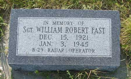 FAST, SGT. WILLIAM ROBERT - Frontier County, Nebraska   SGT. WILLIAM ROBERT FAST - Nebraska Gravestone Photos
